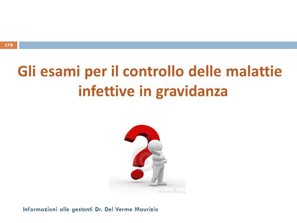 Gli esami per il controllo delle malattie infettive in gravidanza