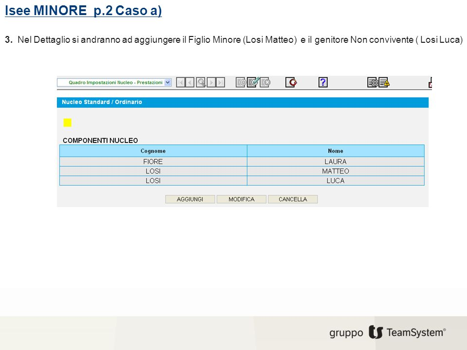 Isee MINORE p.2 Caso a) 3.