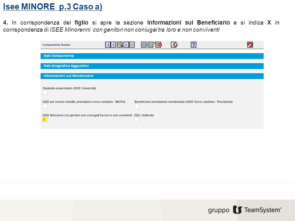 Isee MINORE p.3 Caso a)