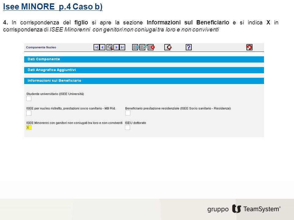 Isee MINORE p.4 Caso b)