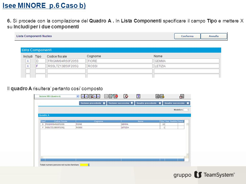 Isee MINORE p.6 Caso b)