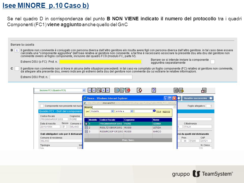 Isee MINORE p.10 Caso b)