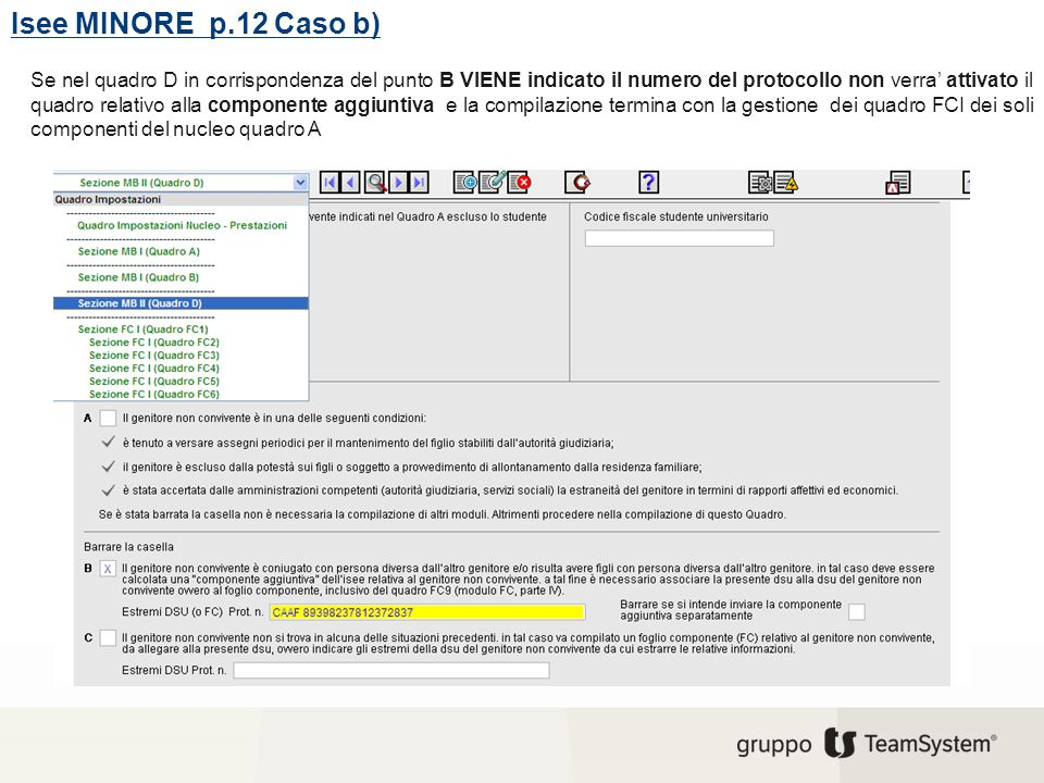 Isee MINORE p.12 Caso b)