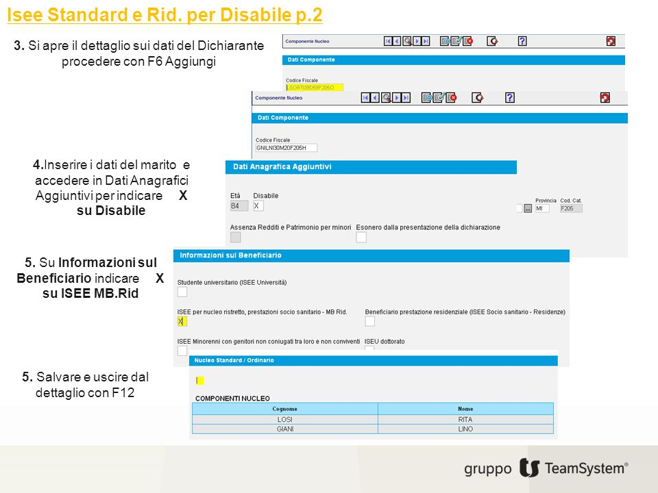 Isee Standard e Rid. per Disabile p.2