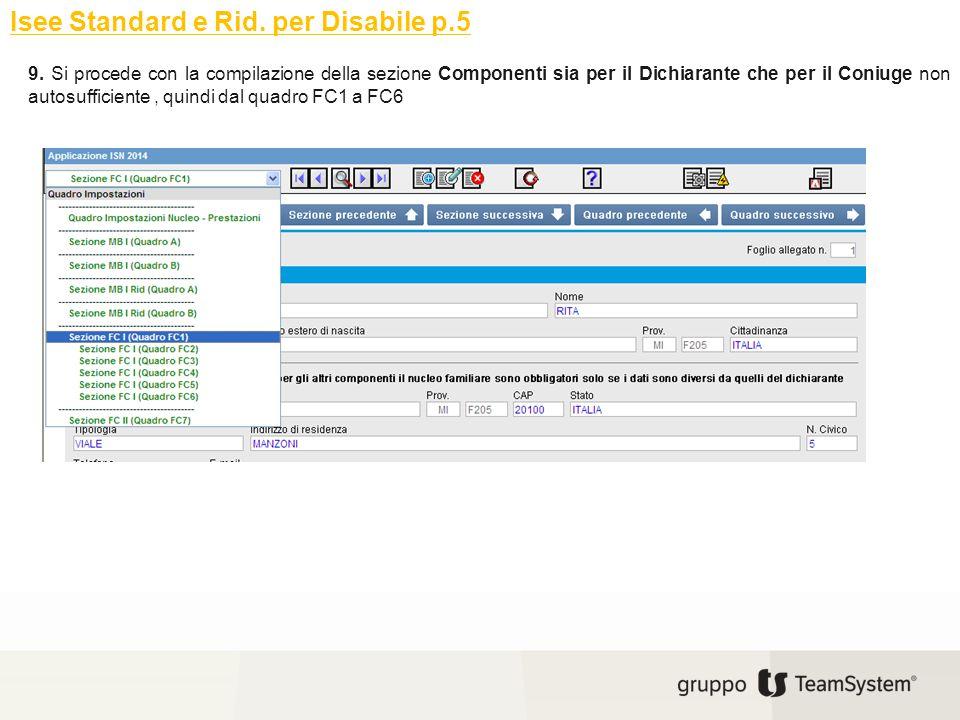 Isee Standard e Rid. per Disabile p.5