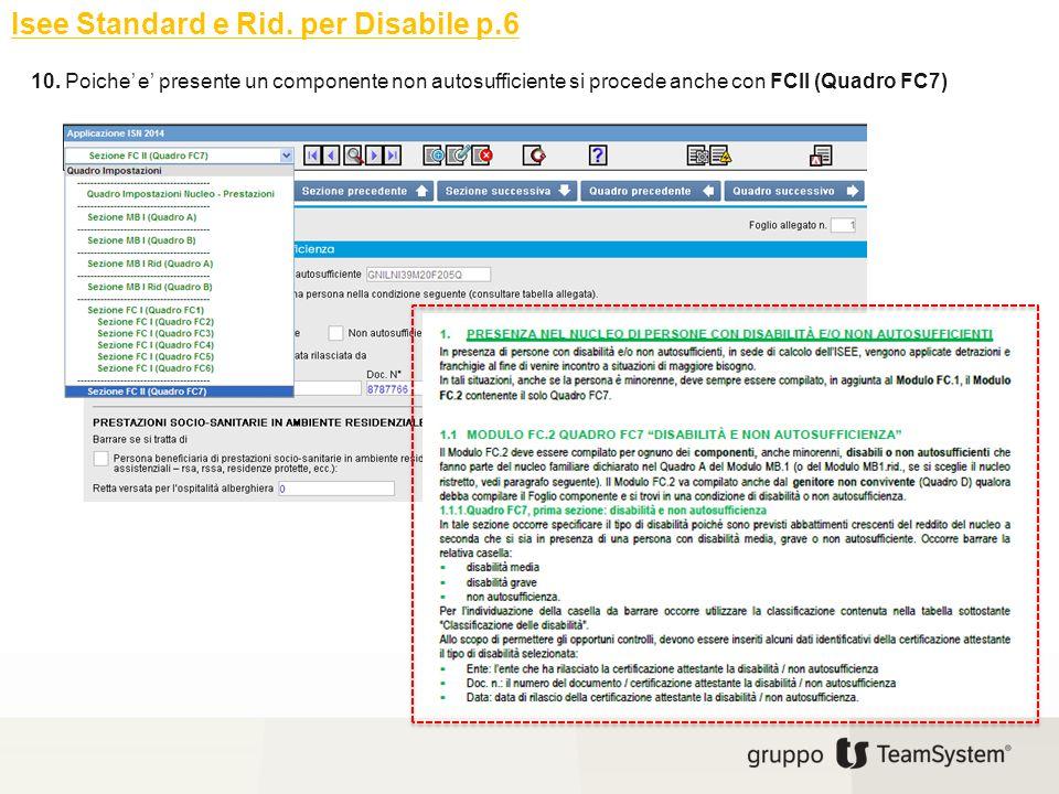 Isee Standard e Rid. per Disabile p.6