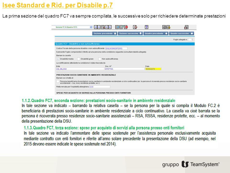 Isee Standard e Rid. per Disabile p.7