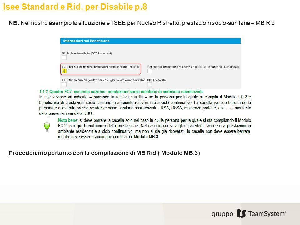 Isee Standard e Rid. per Disabile p.8