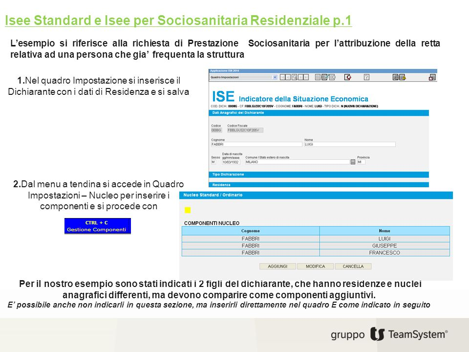 Isee Standard e Isee per Sociosanitaria Residenziale p.1