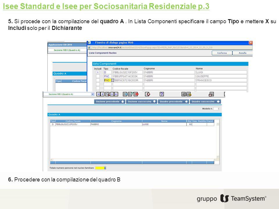 Isee Standard e Isee per Sociosanitaria Residenziale p.3