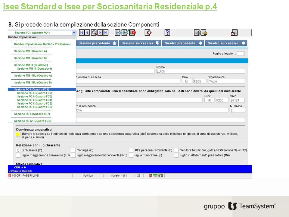 Isee Standard e Isee per Sociosanitaria Residenziale p.4
