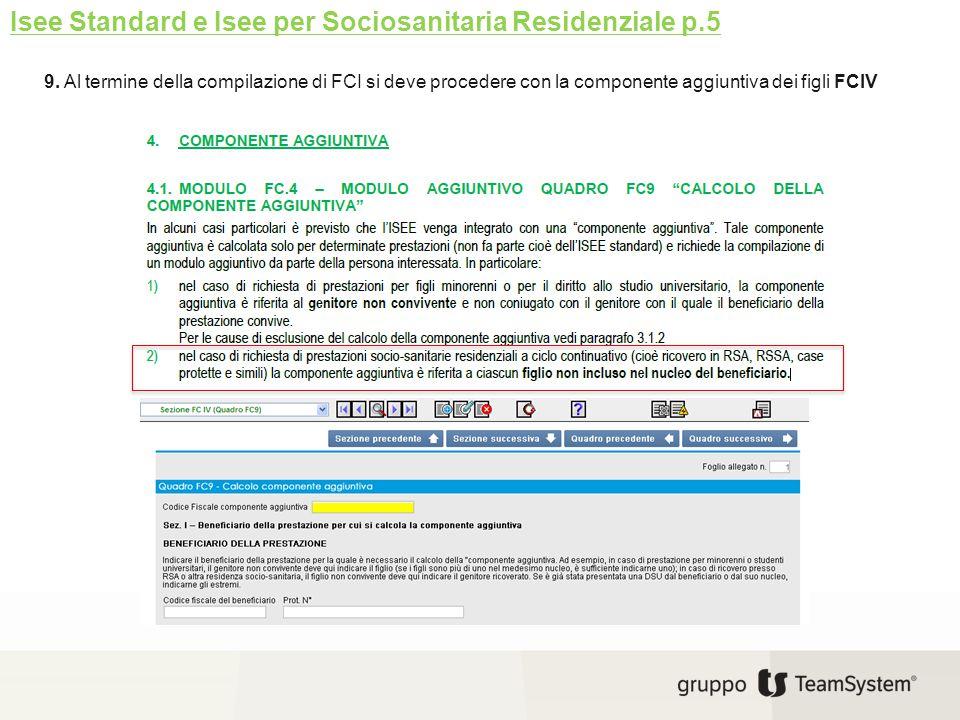 Isee Standard e Isee per Sociosanitaria Residenziale p.5