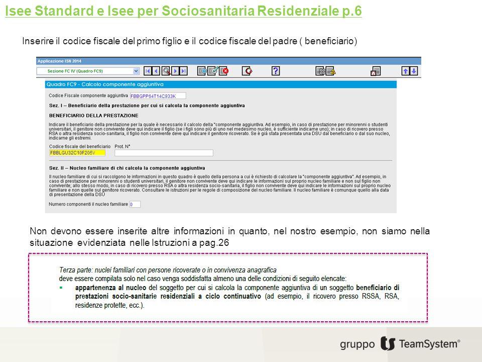 Isee Standard e Isee per Sociosanitaria Residenziale p.6