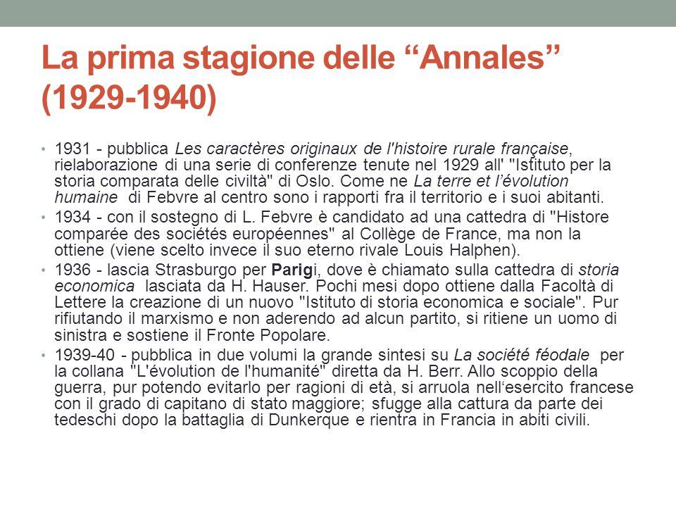 La prima stagione delle Annales (1929-1940)