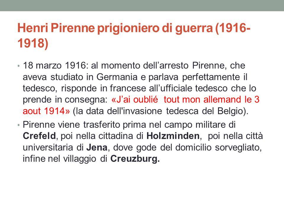 Henri Pirenne prigioniero di guerra (1916-1918)