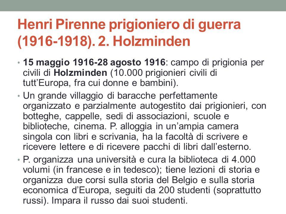 Henri Pirenne prigioniero di guerra (1916-1918). 2. Holzminden