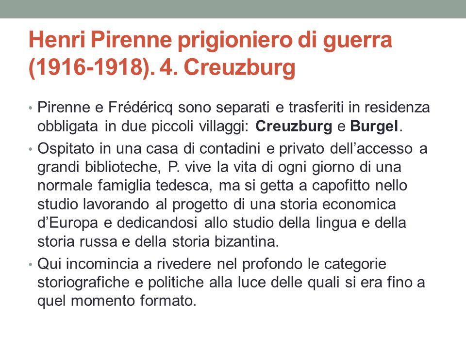 Henri Pirenne prigioniero di guerra (1916-1918). 4. Creuzburg
