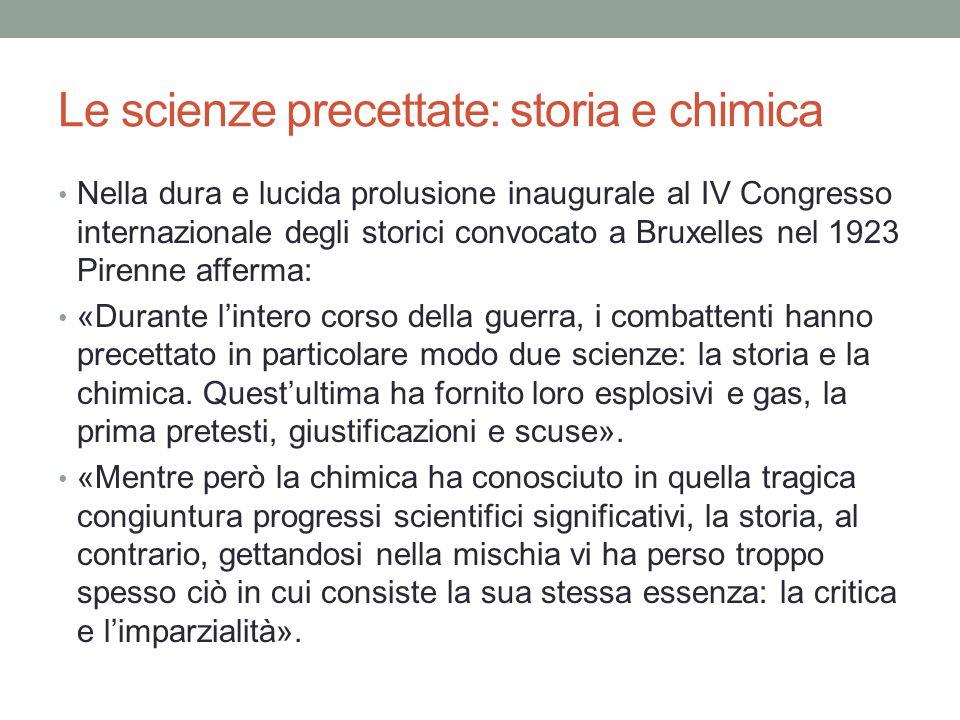 Le scienze precettate: storia e chimica
