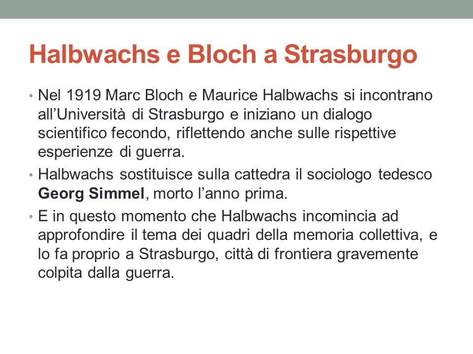 Halbwachs e Bloch a Strasburgo