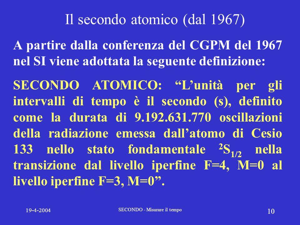 Il secondo atomico (dal 1967)