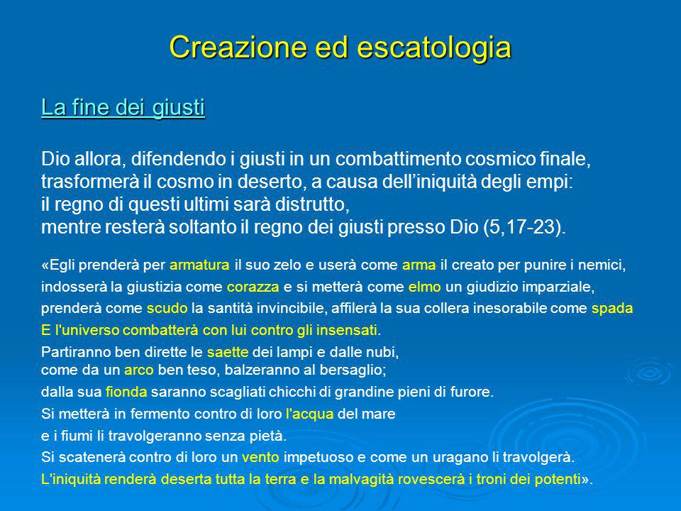 Creazione ed escatologia