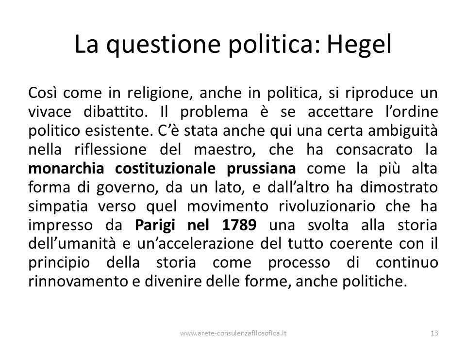 La questione politica: Hegel