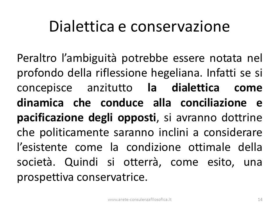 Dialettica e conservazione