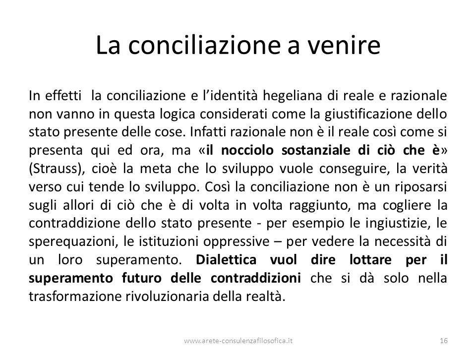 La conciliazione a venire