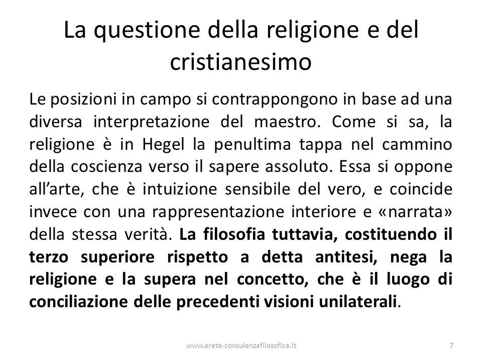 La questione della religione e del cristianesimo