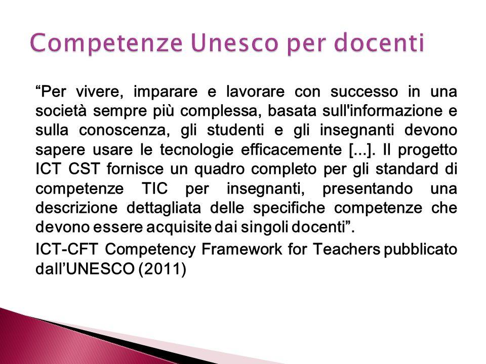 Competenze Unesco per docenti