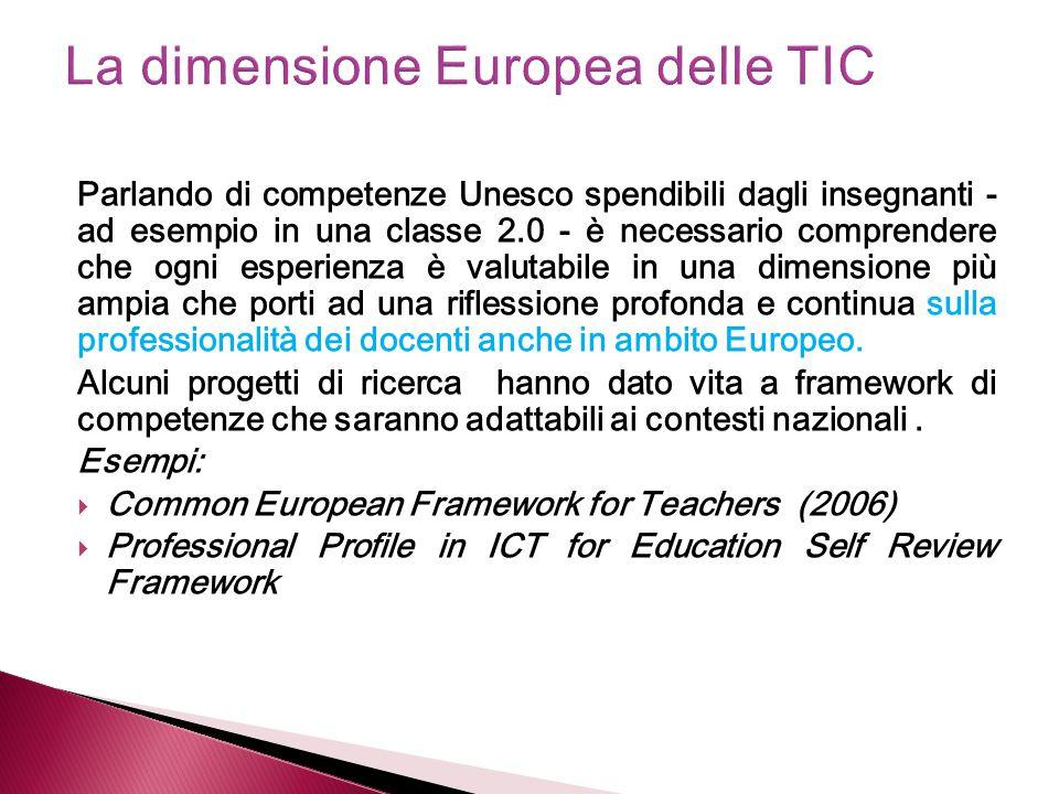 La dimensione Europea delle TIC
