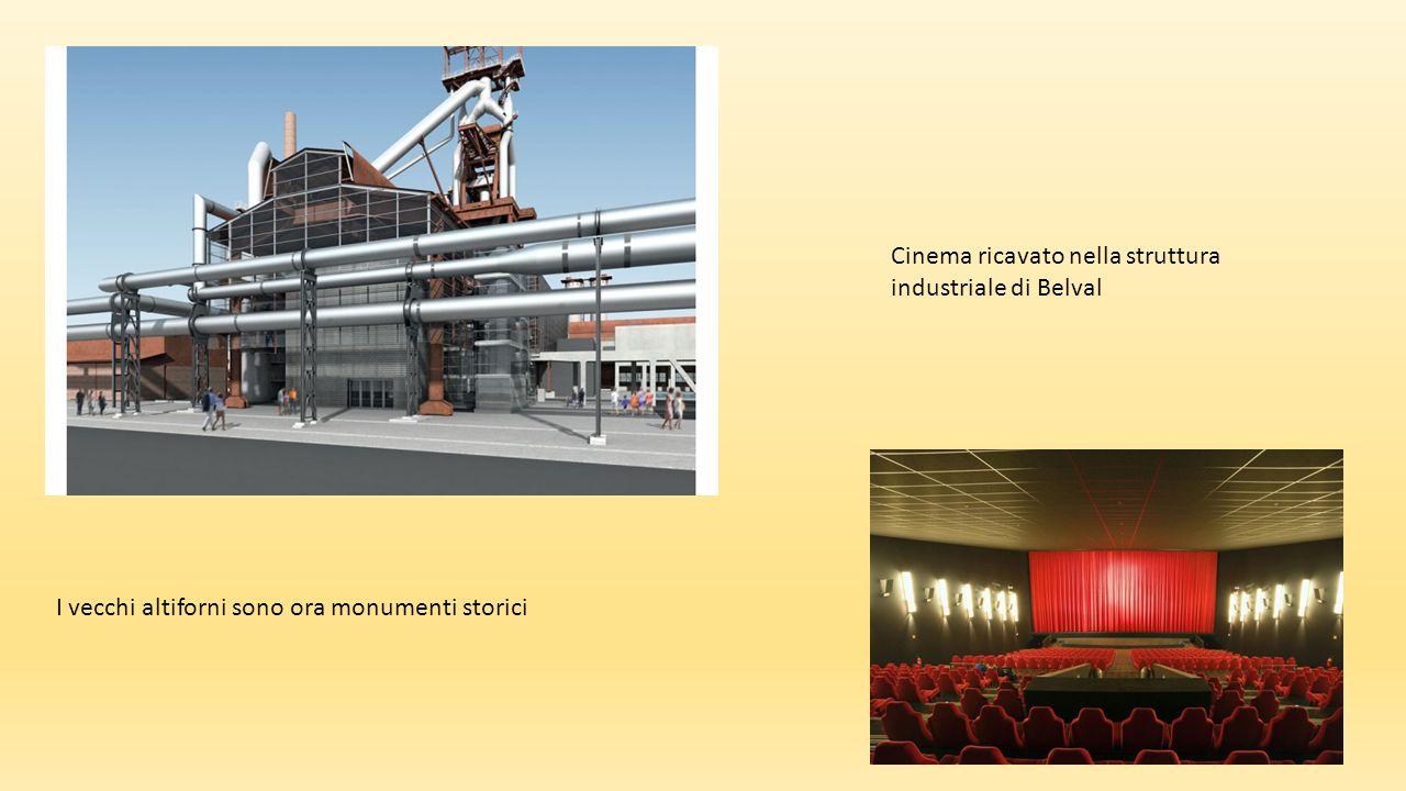 Cinema ricavato nella struttura industriale di Belval