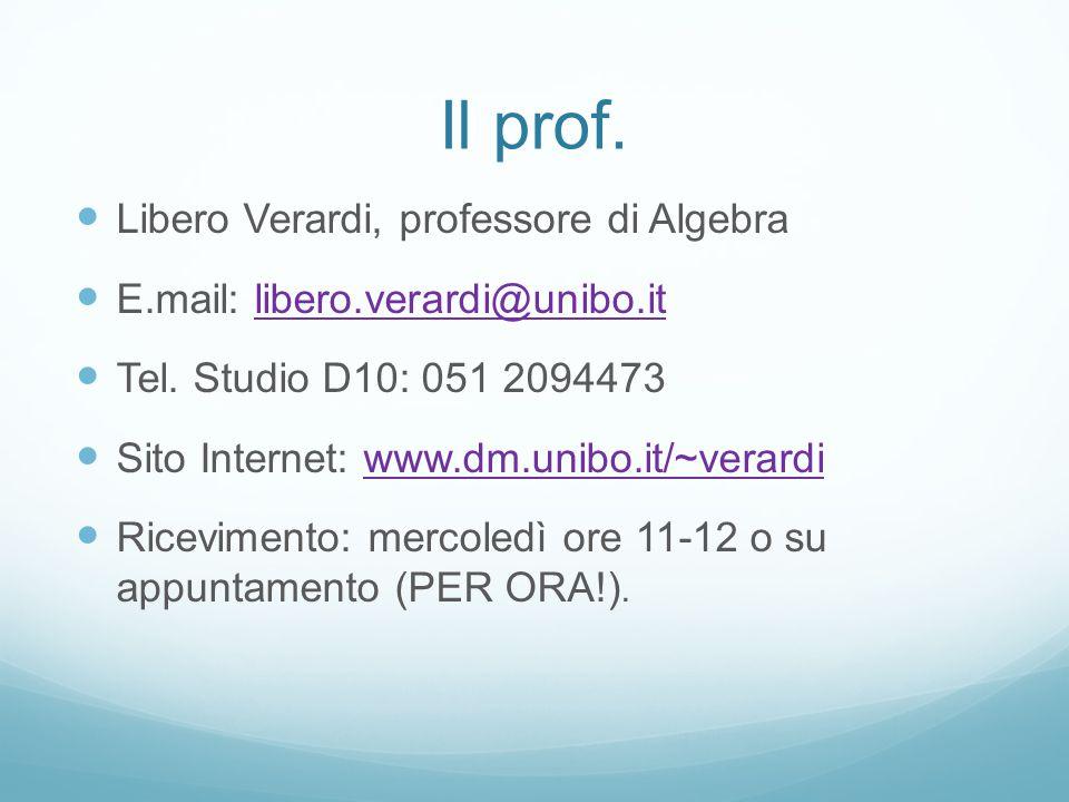 Il prof. Libero Verardi, professore di Algebra