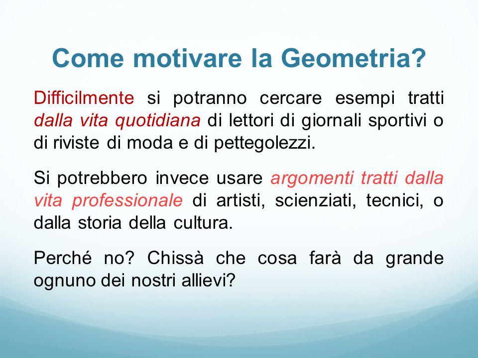 Come motivare la Geometria