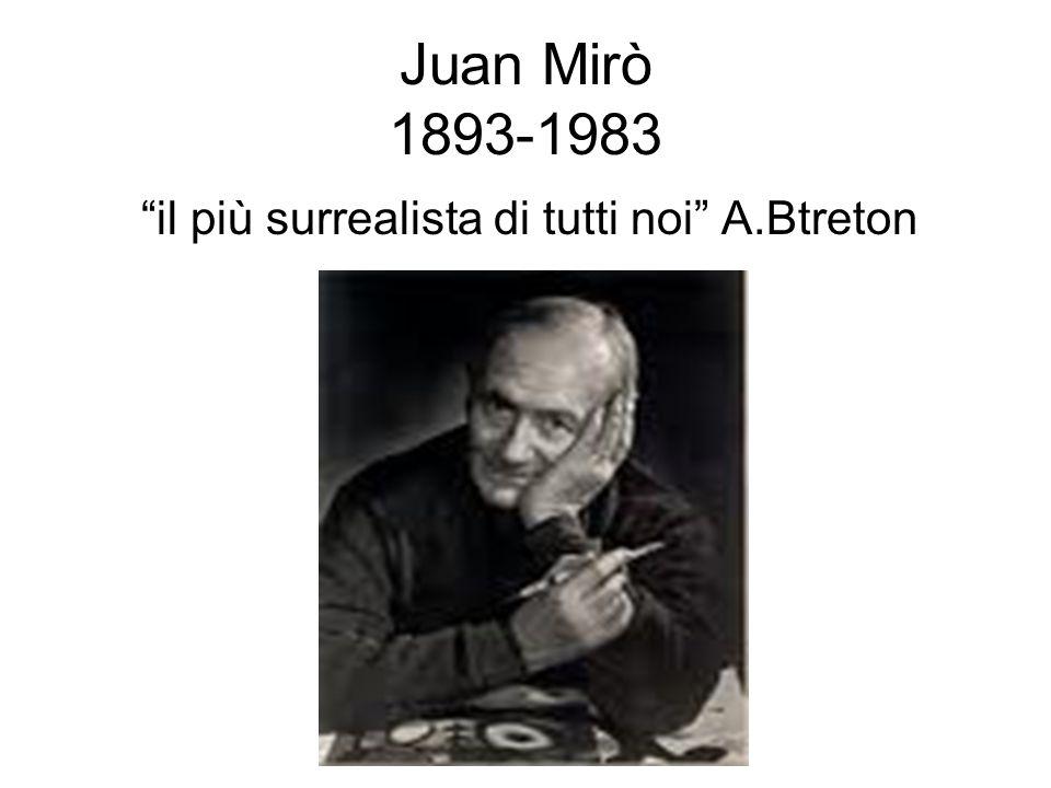 Juan Mirò 1893-1983 il più surrealista di tutti noi A.Btreton