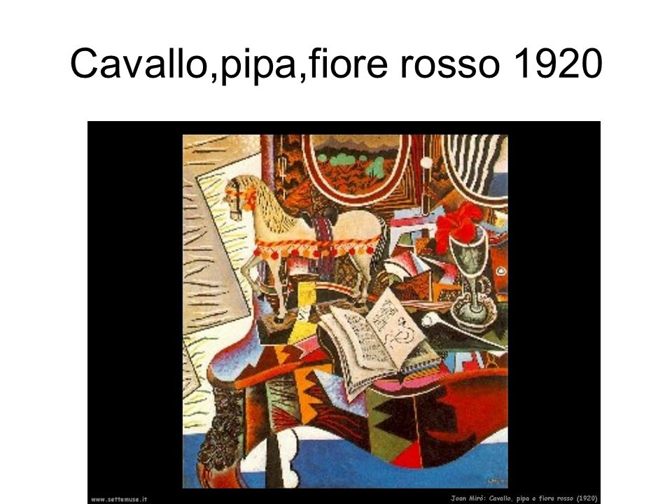 Cavallo,pipa,fiore rosso 1920