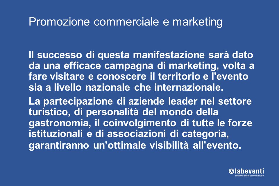Promozione commerciale e marketing