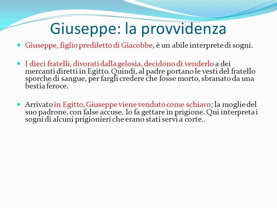 Giuseppe: la provvidenza