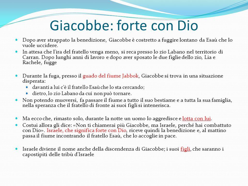 Giacobbe: forte con Dio