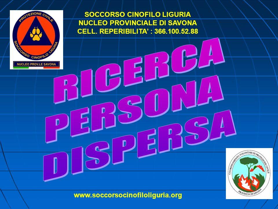 SOCCORSO CINOFILO LIGURIA NUCLEO PROVINCIALE DI SAVONA