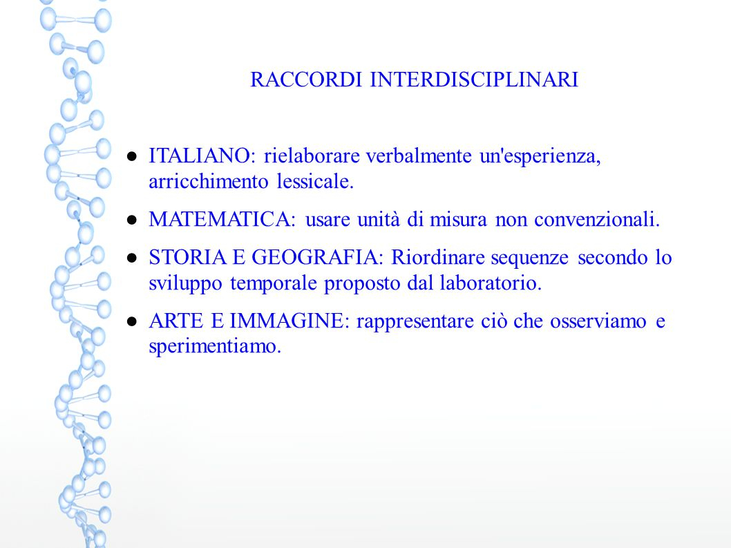 RACCORDI INTERDISCIPLINARI
