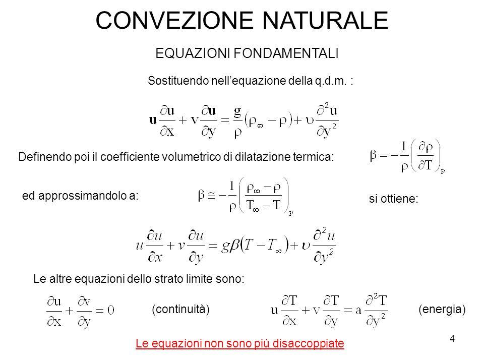 Le equazioni non sono più disaccoppiate