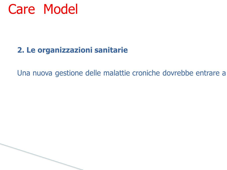 Chronic Care Model 2. Le organizzazioni sanitarie