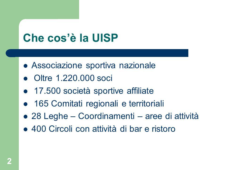Che cos'è la UISP Associazione sportiva nazionale Oltre 1.220.000 soci
