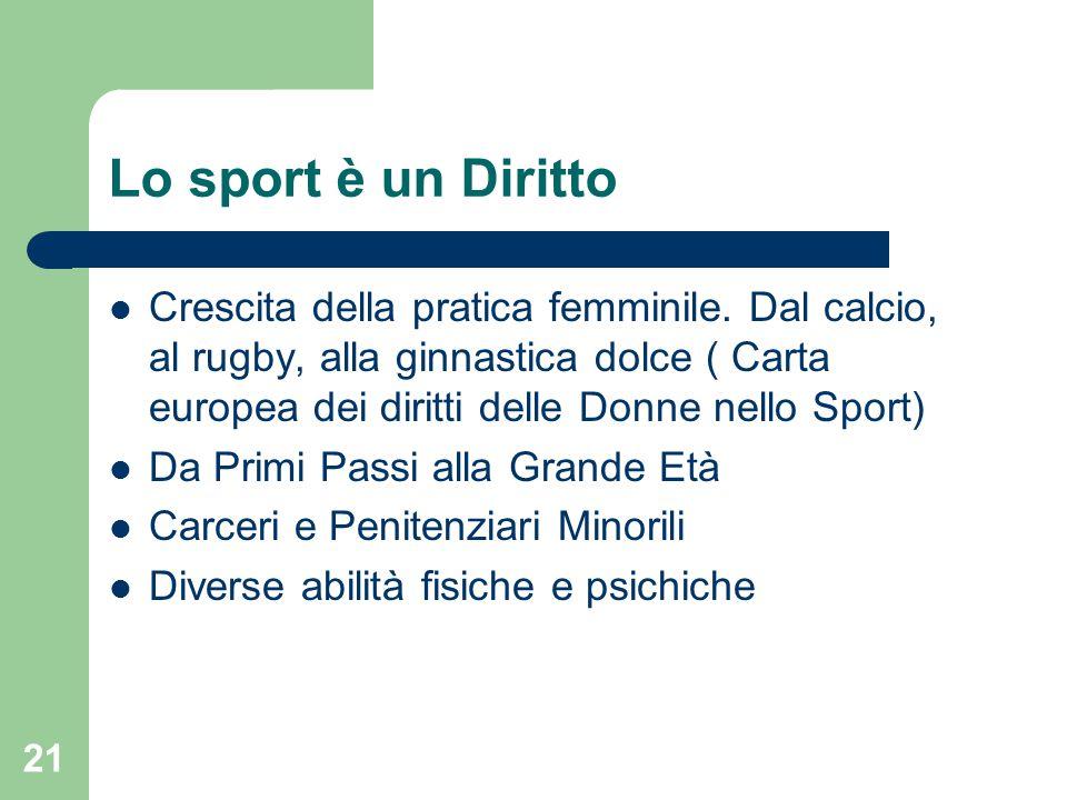 Lo sport è un Diritto