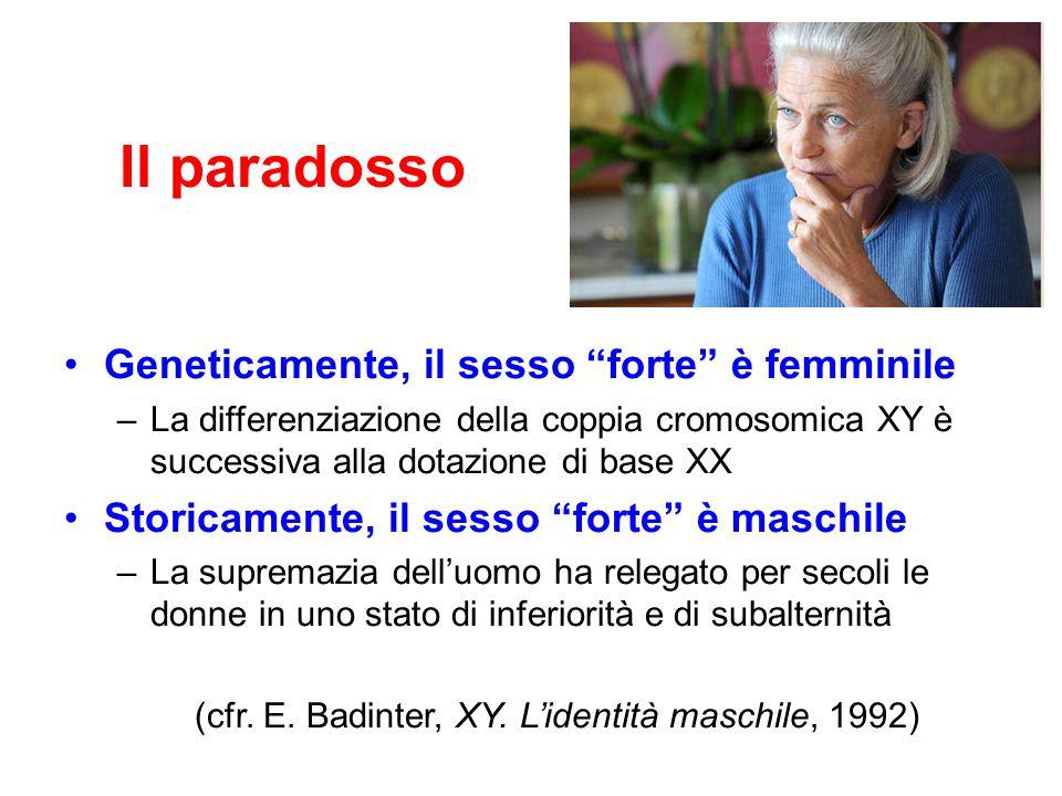 (cfr. E. Badinter, XY. L'identità maschile, 1992)