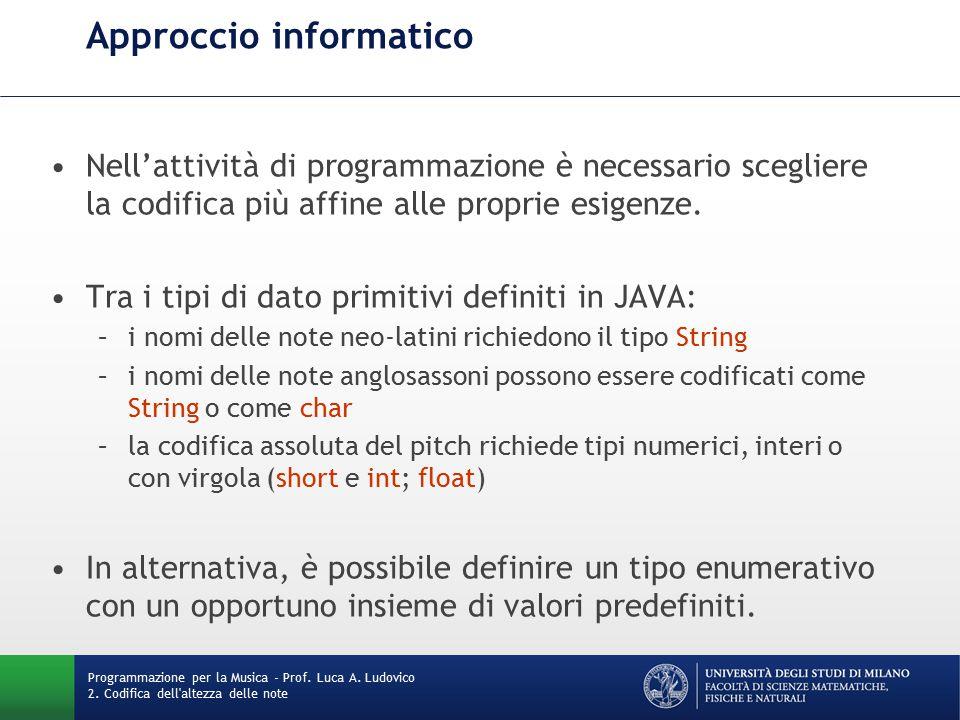 Approccio informatico