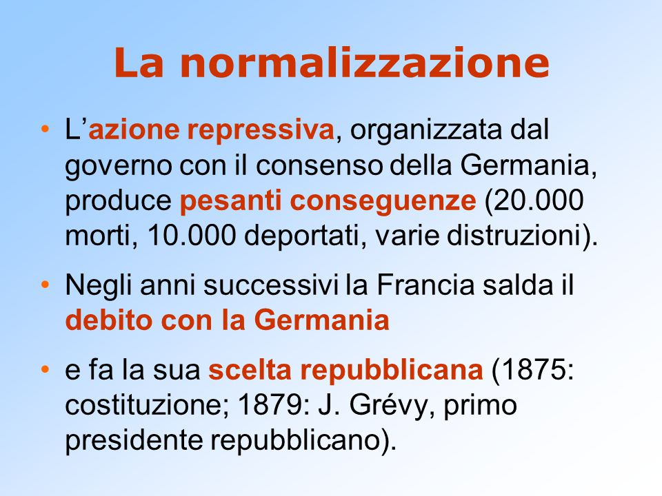 La normalizzazione