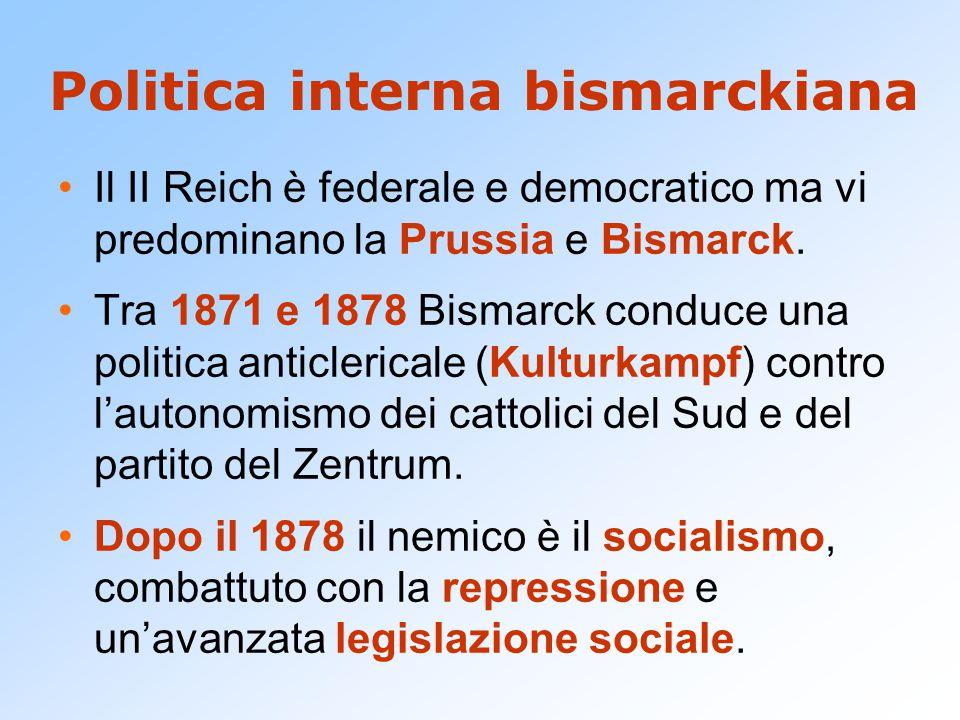 Politica interna bismarckiana