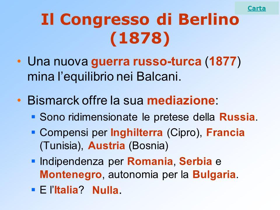 Il Congresso di Berlino (1878)